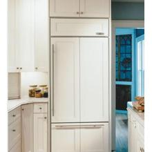 """View Product - 30"""" Sub-Zero 611 Over-Under Bottom Freezer Refrigerator Overlay, Accepts Custom Panels, with Ice Maker"""