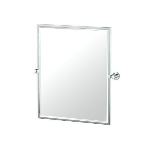 Glam Framed Rectangle Mirror in Chrome