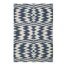 Uzbek Bokrum Blue Flat Woven Rugs