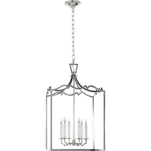 E. F. Chapman Darlana 6 Light 22 inch Polished Nickel Foyer Pendant Ceiling Light