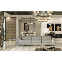 See Details - Accenti Italia Vogue Italian Modern Grey & White Sofa w/ Electric Recliner