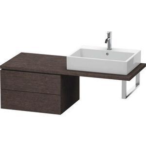 Low Cabinet For Console, Brushed Dark Oak (real Wood Veneer)