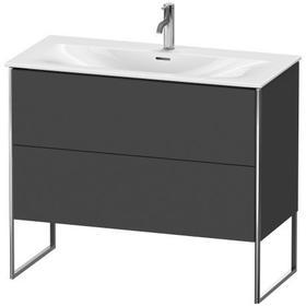 Vanity Unit Floorstanding, Graphite Matte (decor)