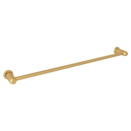 "English Gold Perrin & Rowe Holborn Wall Mount 30"" Single Towel Bar"