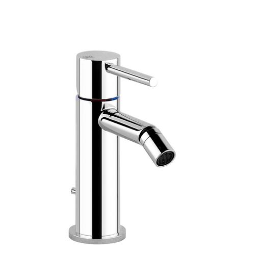 """Gessi - Single lever bidet mixer with pop-up assembly Spout projection 3-15/16"""" Height 3-9/16"""" 1-1/4"""" D"""