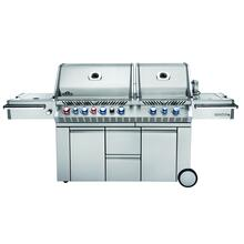 Napoleon's Prestige PRO™825 with side range burner and rear/internal infrared burners.