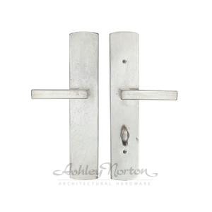 CVEU5 Escutcheon Shown with Meridian 310 lever in white bronze patina Product Image