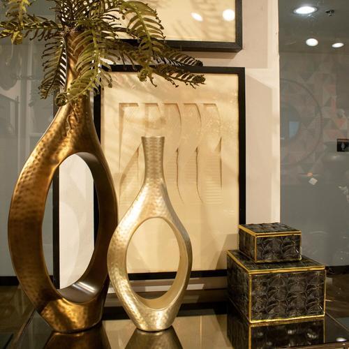 Howard Elliott - Asymmetrical Aluminum Silver Vase - Small