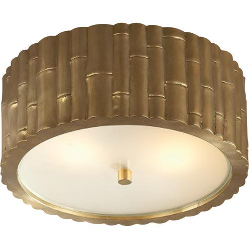 Alexa Hampton Frank 2 Light 11 inch Natural Brass Flush Mount Ceiling Light