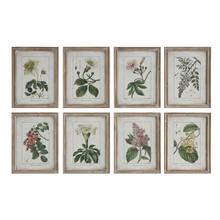 """See Details - 13-3/4""""L x 18""""H Wood Framed Wall Decor w/ Vintage Reproduction of Floral Image, 8 Styles"""