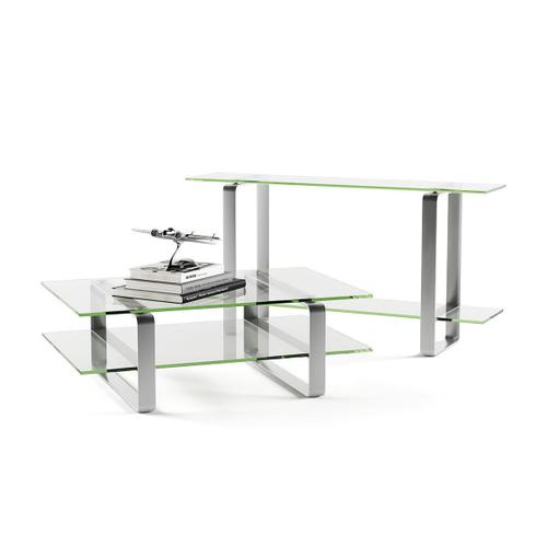 Coffee Table 1642 in Clear Glass