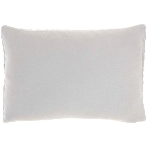 "Life Styles Et299 Light Grey 14"" X 20"" Throw Pillow"