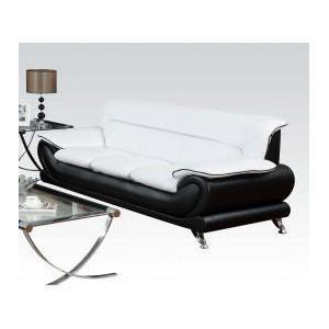 Acme Furniture Inc - Wh/bk Bonded Leather Sofa