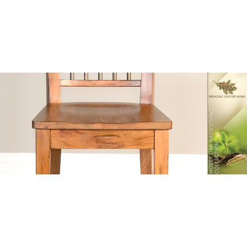 "Sunny Designs - Mossy Oak 24""H Barstool, Wood Seat"