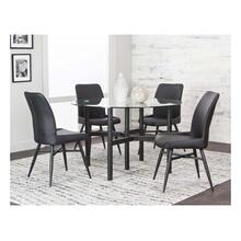 Lemans 5pc Dining Set (black)