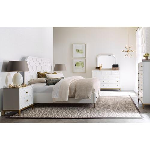 Chelsea by Rachael Ray Panel Bed w/ Storage Footboard, King 6/6