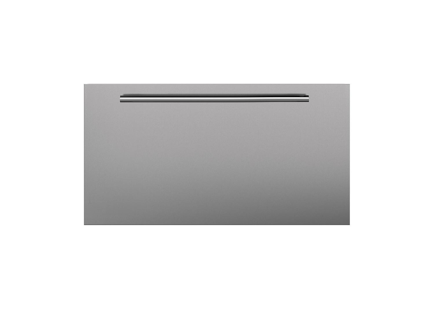 SubzeroStainless Steel Dual Flush Inset Drawer Panel With Tubular Handle - Lh