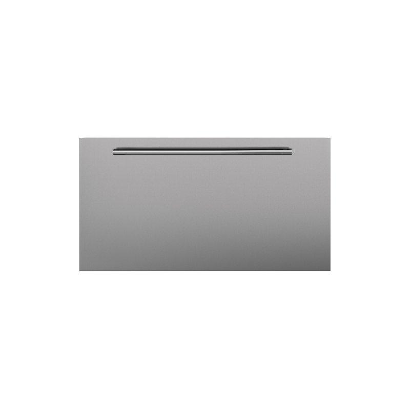 Stainless Steel Dual Flush Inset Drawer Panel with Tubular Handle - LH