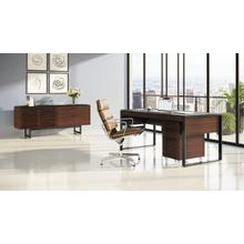 See Details - Corridor 6521 Desk in Chocolate Stained Walnut