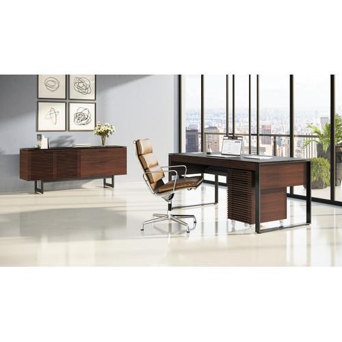 BDI Furniture - Corridor 6521 Desk in Chocolate Stained Walnut