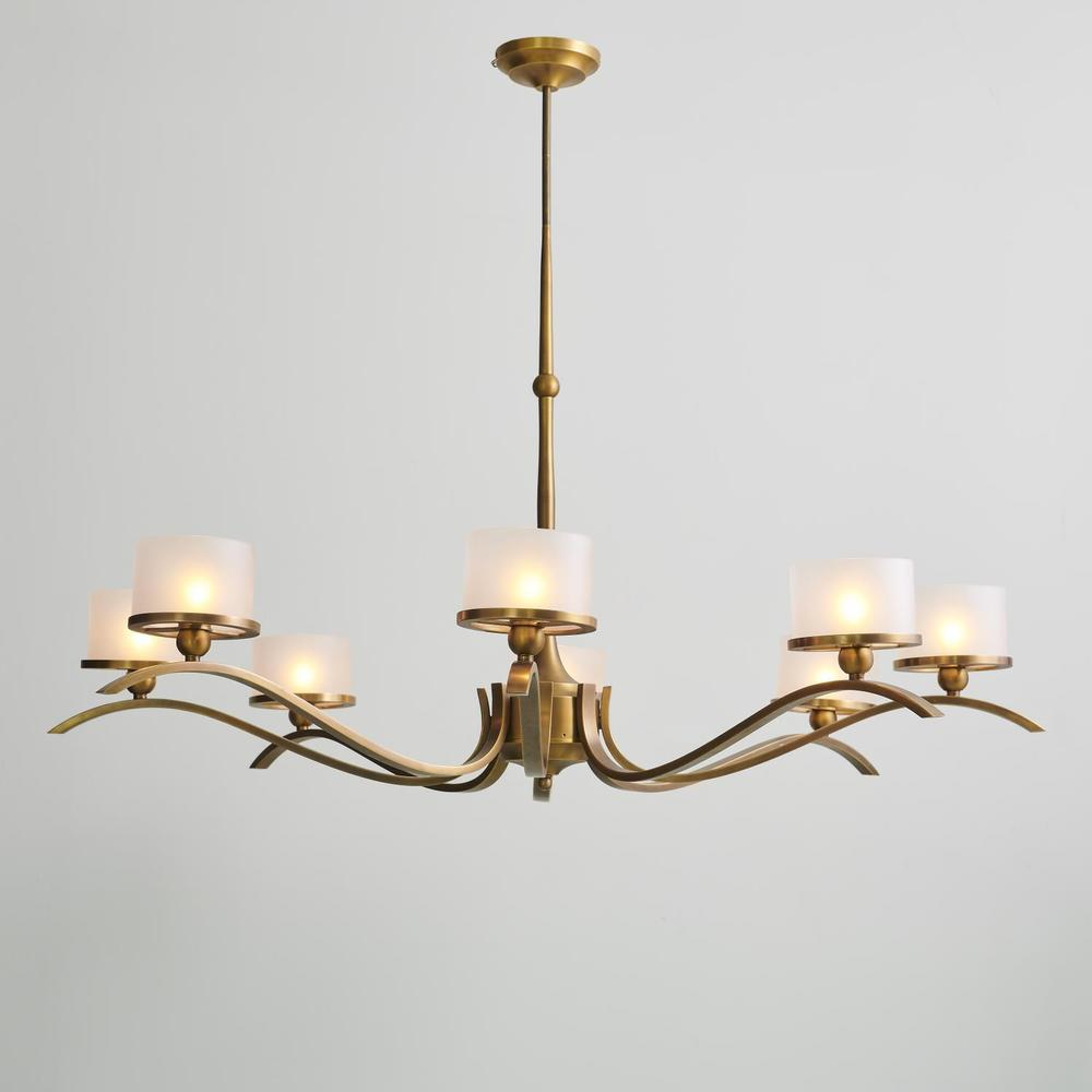 See Details - French Curve Chandelier-Light Bronze