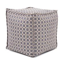 See Details - Square Pouf Pyth Steel