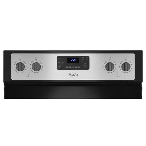 Whirlpool - 5.3 Cu. Ft. Freestanding Electric Range with Easy Wipe Ceramic Glass Cooktop