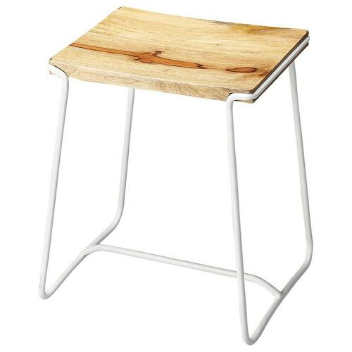 Butler Specialty Company - This contemporary stool will stylishly enhance your space. Featuring a White Finish, it is hand crafted from iron, mango wood.