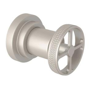 Campo Trim for Volume Control and 4-Port Dedicated Diverter - Satin Nickel with Industrial Metal Wheel Handle