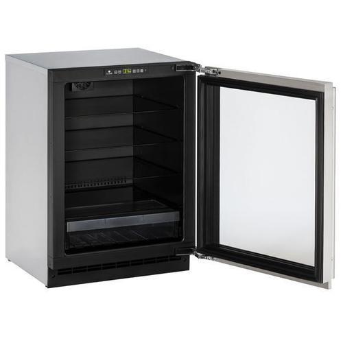 "U-Line - 2224rgl 24"" Refrigerator With Stainless Frame Finish (115 V/60 Hz Volts /60 Hz Hz)"