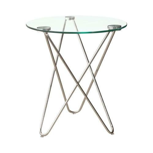 Contemporary Chrome Accent Table