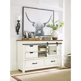 Wystfield Dresser White/Brown