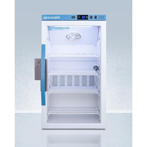 Performance Series Pharma-vac 3 CU.FT. Counter Height Glass Door Commercial All-refrigerator for the Display and Refrigeration of Vaccines