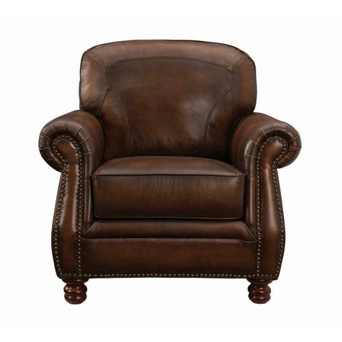 Coaster - Montbrook Traditional Hand Rubbed Brown Chair