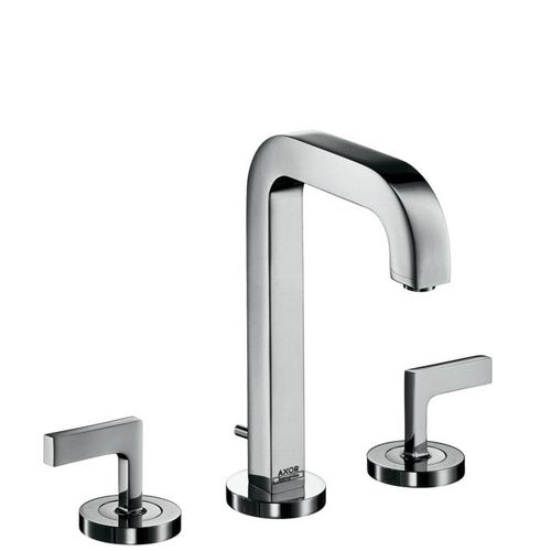 Chrome Widespread Faucet 170 with Lever Handles and Pop-Up Drain, 1.2 GPM