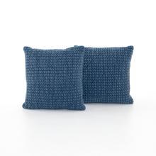 "Abella Pillow Set of 2-20""-persian Blue"