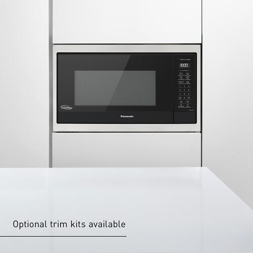 Panasonic 1.6 Cu. Ft. 1250W Black Microwave Oven with Inverter and Genius Sensor Technology - NN-SN75LB