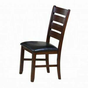 ACME Urbana Side Chair (Set-2) - 04624 - Black PU & Cherry