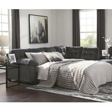 Two Piece Sleeper Sofa in Charcoal