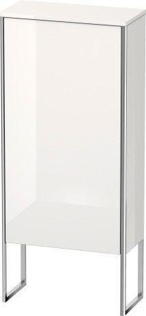 Semi-tall Cabinet Floorstanding, White High Gloss (lacquer)