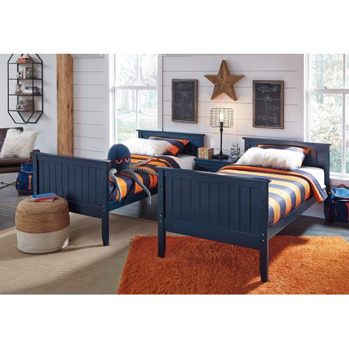 Leo Twin/Twin Blue Bunk Bed