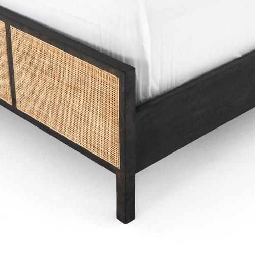 Queen Size Black Wash Finish Sydney Bed