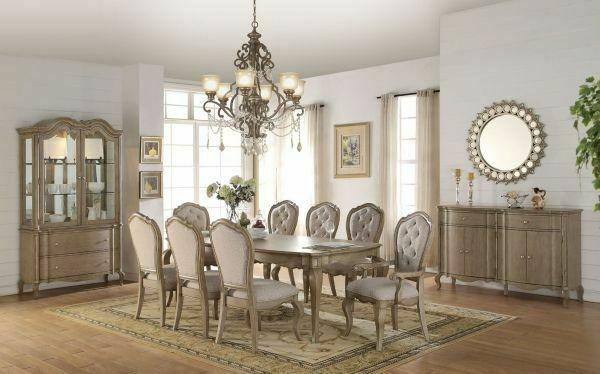 ACME Chelmsford Dining Table - 66050 - Antique Taupe