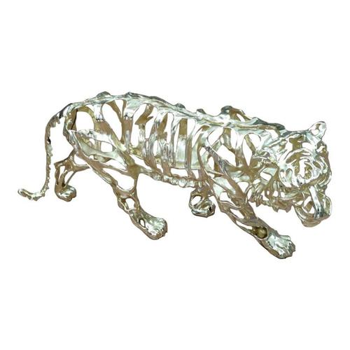 Tiger Stripes Statue Small Pewter