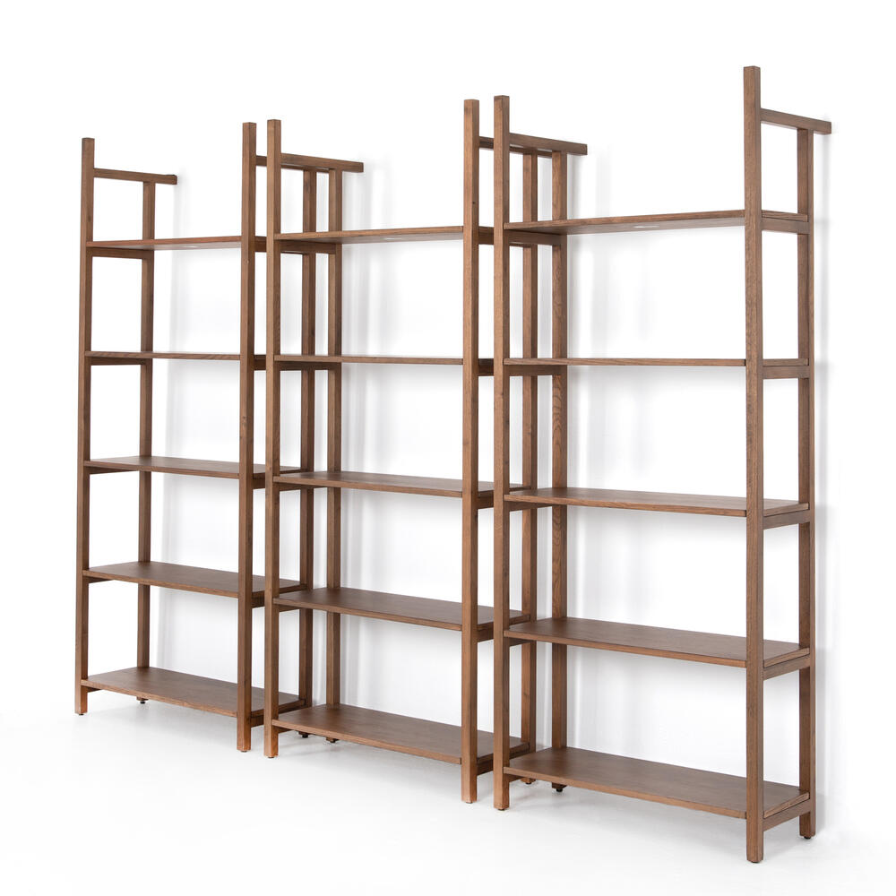 Teddy Triple Bookshelf-vintage Sienna
