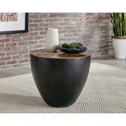 Industrial Black End Table Product Image
