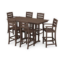 View Product - Lakeside 7-Piece Bar Set in Mahogany