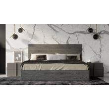 Product Image - Nova Domus Lucia Italian Modern Matte Grey / Elm Grey Bed