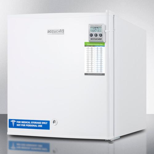 Summit - Compact Commercially Listed All-freezer Capable of -20 C Degree Operation, With Lock, Alarm With Temperature Display, and Hospital Grade Cord