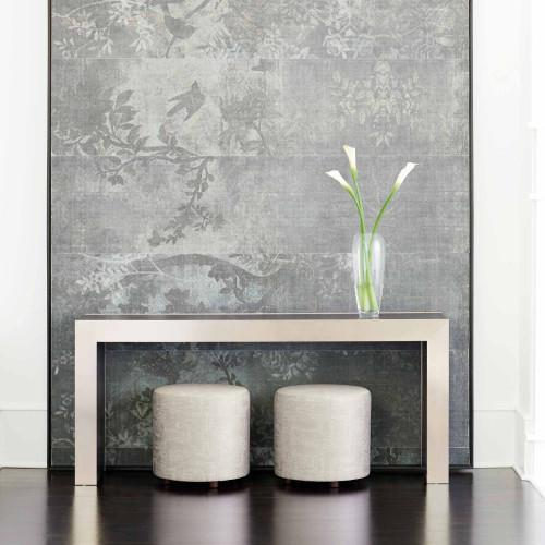 Decorage Console Table in Cerused Mink (380)